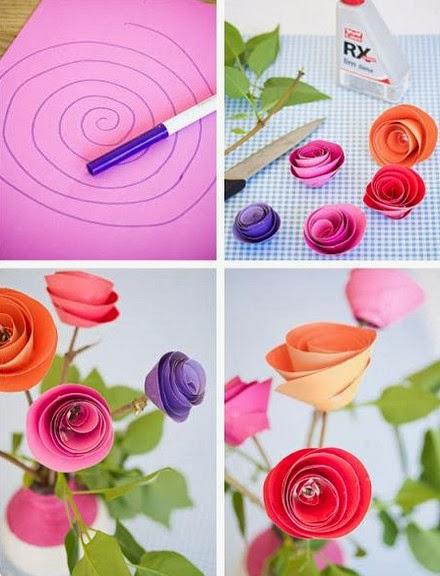 Como Hacer Flores De Cartulina Manualidades Faciles