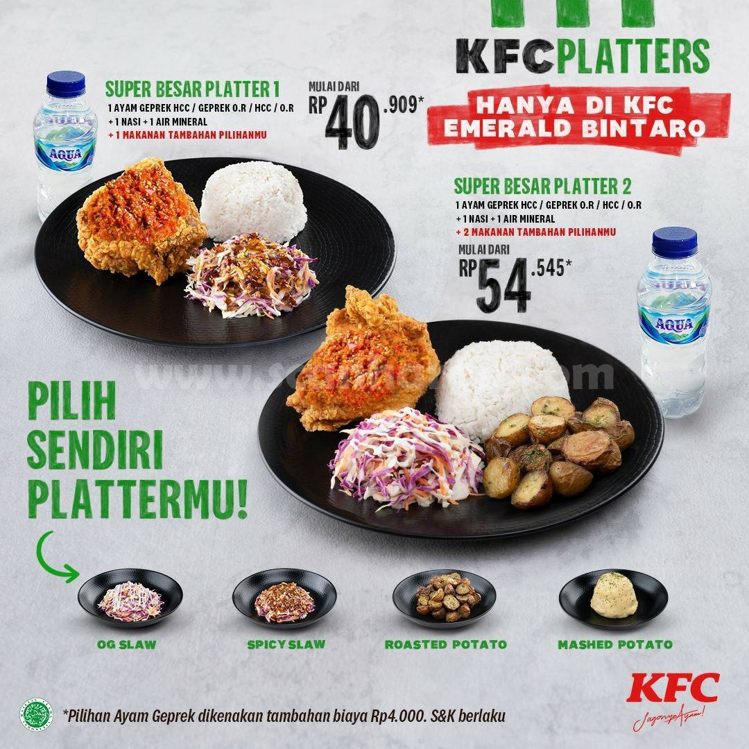 KFC PLATTERS! Harga Spesial Paket Super Besar mulai Rp 40.909