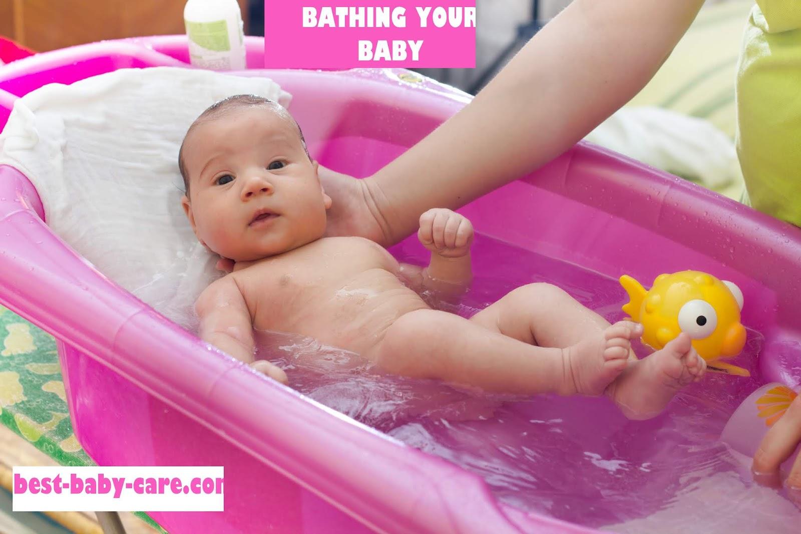 bathing your newborn baby