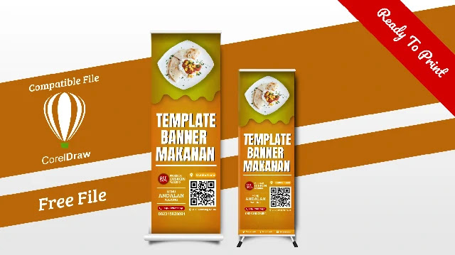 Contoh Banner Warung Makanan