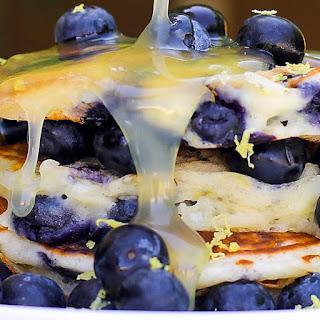 Fluffy Blueberry Lemon Buttermilk Pancakes