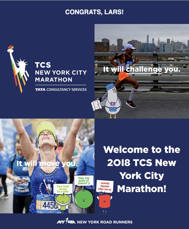 Ney York City Marathon Congratulations