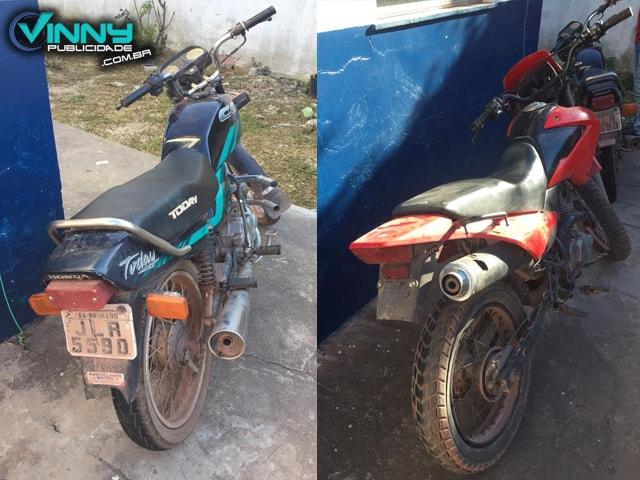 Barra da Estiva: Polícia Militar apreende menores e recupera motocicletas roubadas