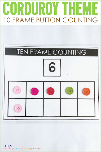 Corduroy: 10 Frame Counting Mat