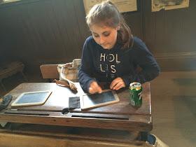 Beamish school classroom desk