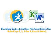 Download Berkas & Aplikasi Penilaian Kinerja Guru: Buku Kerja 1, 2, 3 dan 4 [Excel & Word] Edisi Terbaru