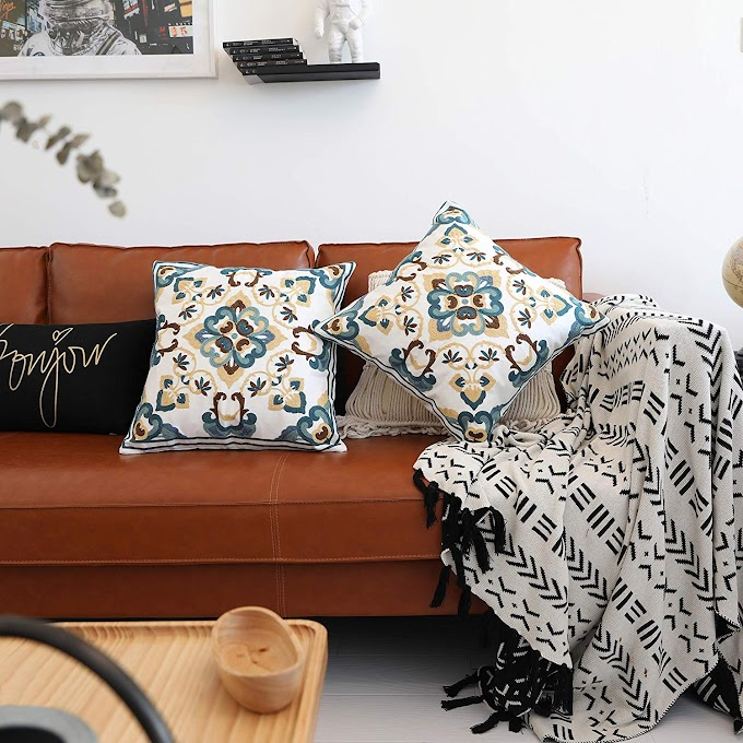 AMAZON - 20% off Embroidered Throw Pillow Covers