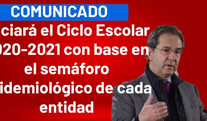 Comunicado Conjunto No. 5 Iniciará el Ciclo Escolar 2020-2021 con base en el semáforo epidemiológico de cada entidad