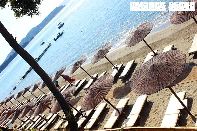 Skiathos island Vasilias beach.Skijatos ostrvo Vasilias plaza.