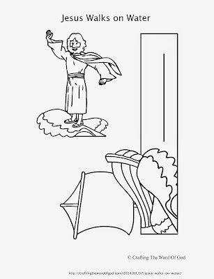 Jesus easter coloring pages to print for Jesus walking on water coloring page