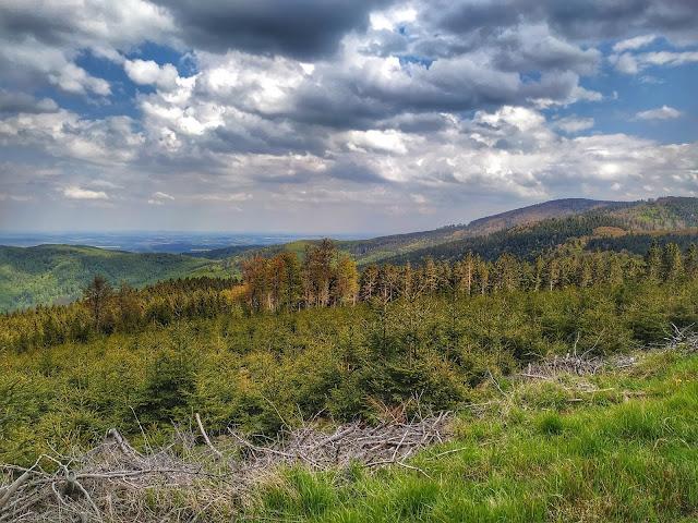 widok ze szlaku na Wielką Sowę, panorama gór