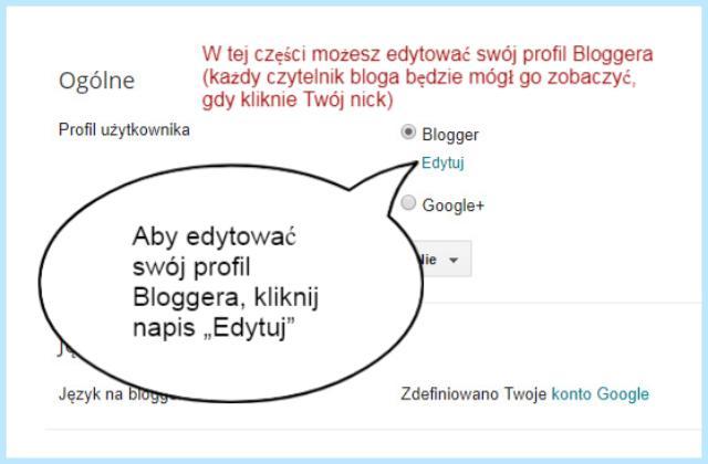 Jak i gdzie edytować profil Bloggera?