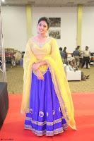 Actress Eesha in Yellow Choli Blue Ghagra at Darshakudu music launch 041.JPG