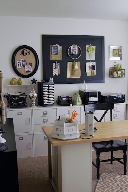 Craft Room Video Tour and Storage Solutions with Jen Gallacher. Includes links to solutions and a complete video tour. #crafting #craftroom #scrapbooking #scrapbookroom