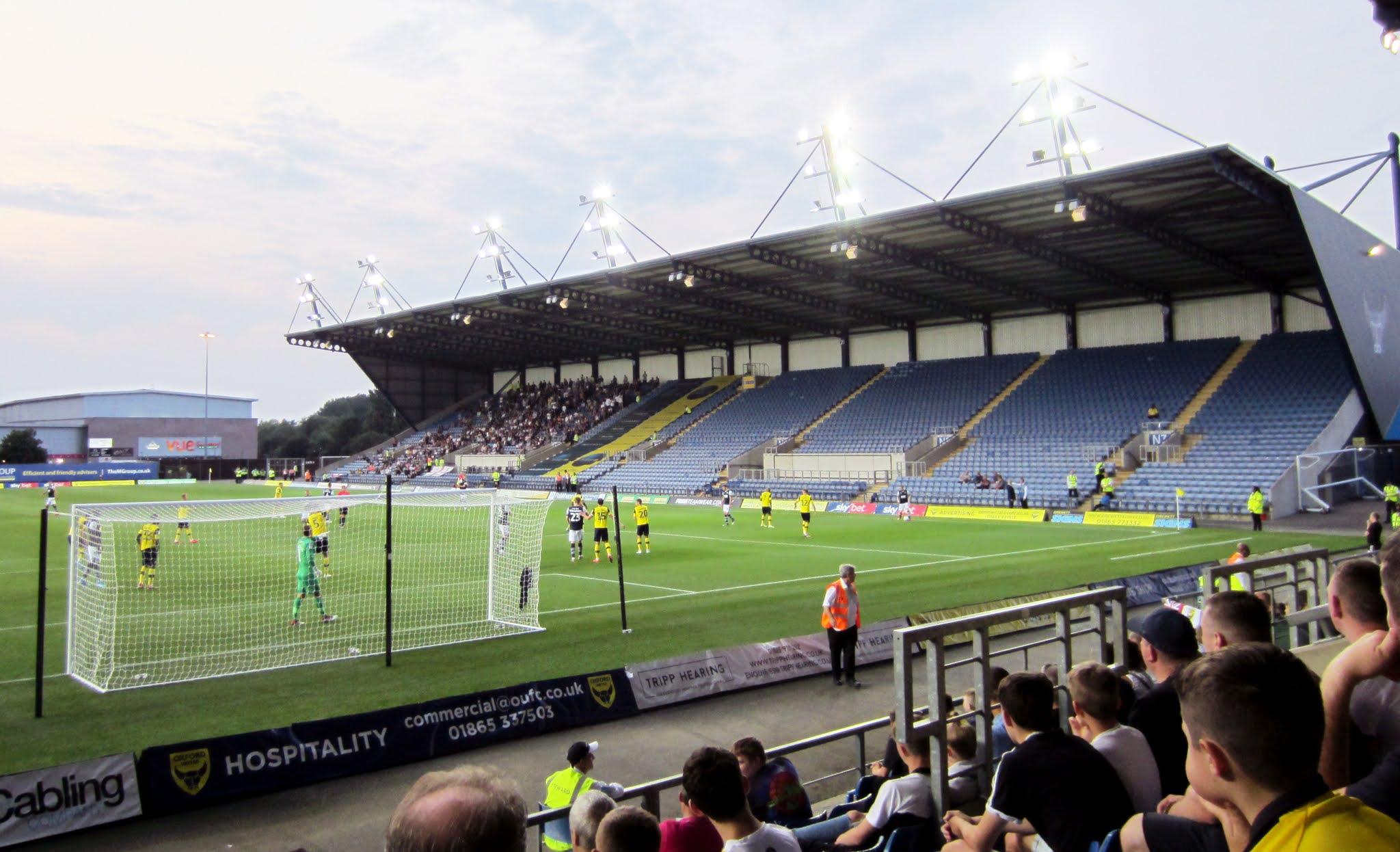 North stand at The Kassam Stadium