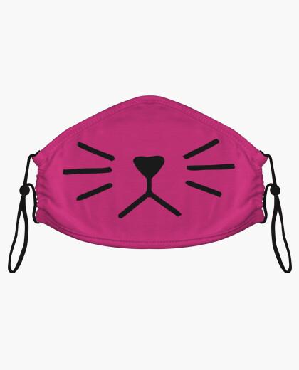 Mascarillas de tela - Diseño Nariz de gato (negro)