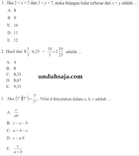 matematika stis 2015