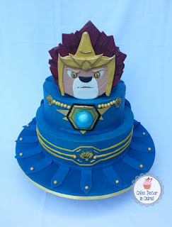 Lego Chima Laval Cake, decorated in Blue Colored Ganache by Cake decor in Cairns