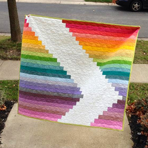 Jelly Stripe Sandwich Quilt Free Tutorial