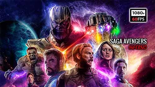 Avengers Saga Completa 2019 BDRip 1080p 60fps Latino-Castellano-Inglés