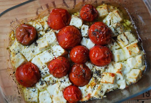 Tomates feta rôties