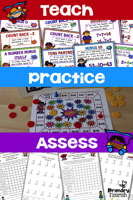 This bundle contains more than math fact fluency practice – it is packed with fun, interactive, differentiated, activities that your students will love! These Math Fact Fluency packs are designed using the mental math strategies. Research confirms that students learn the basic math facts if they learn them in the context of the mental math strategies. This not only helps them increase their math fact fluency, but they are understanding number sense and how the numbers are related to each other.