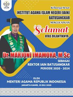 Pelantikan Rektor IAIN Batusangkar Periode 2020-2024