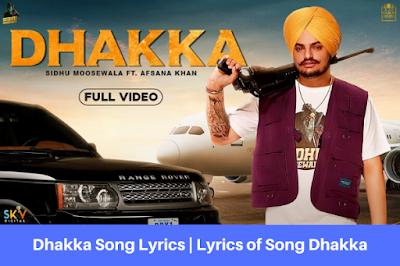 Dhakka Song Lyrics