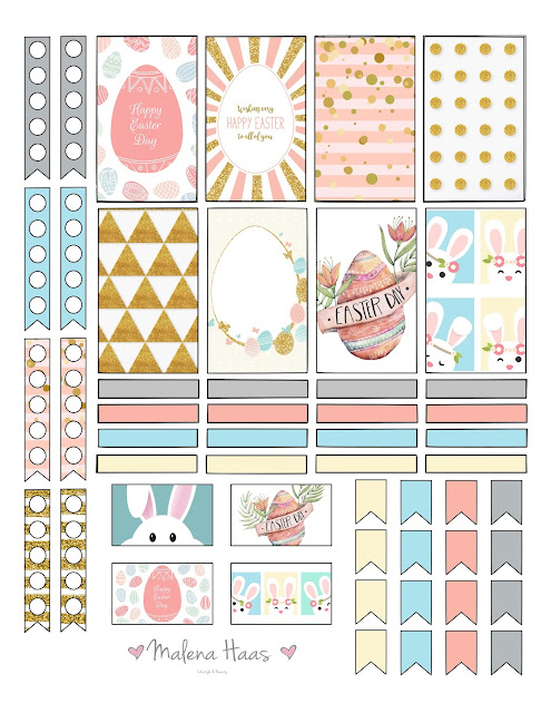 Malena Haas: FREEBIE Friday Happy Easter Planner Stickers