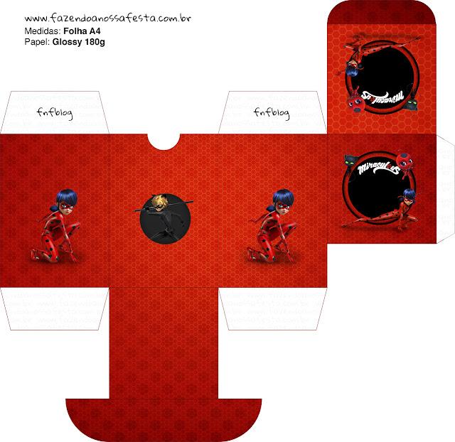 Charming Miraculous Ladybug Free Printable Box.