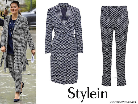 Crown Princess Victoria wore STYLEIN Bianca coat and Baktun trouser