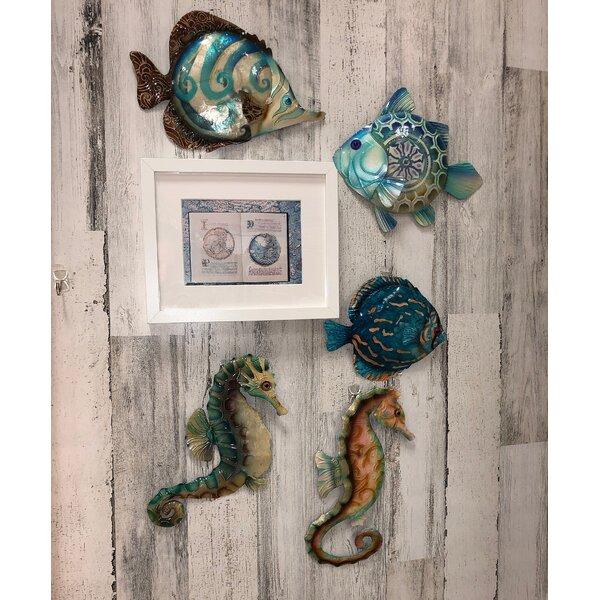 Coastal Discus Fish Metal Wall Decor 4 or 4