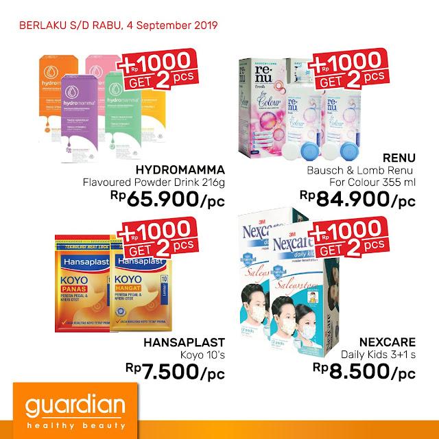 #Guardian - #Promo Super Hemat +1000 Dapat 2 (s.d 04 Sept 2019)