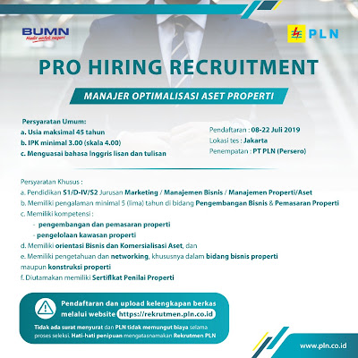 Lowongan Kerja PT PLN (Persero)