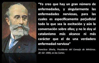 Francisco Silvela, presidente, catalanismo, enfermedad nerviosa