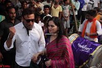 Jackie Shroff and Padmini Kolhapuri at Inauguration Of Pandit Padharinath Kolhapure Marg Exclusive  42.JPG