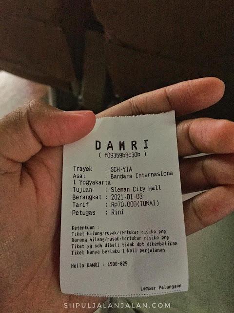 Tarif baru damri non subsidi SCH - Bandara Internasional Yogyakarta Kulonprogo