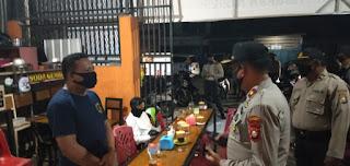 Polres Pelabuhan Ajak Pemilik, Pengunjung Kafe Terapkan Protokol Kesahatan