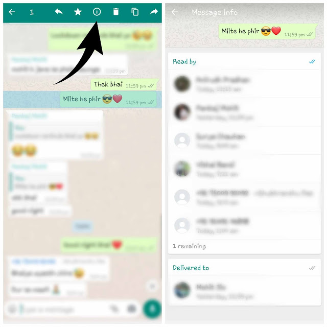 Find who viewed your WhatsApp message