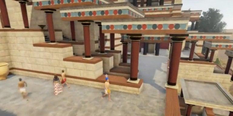 Ετσι ήταν το αρχαίο παλάτι της Κνωσού -Επιβλητικά κτίσματα, μεγαλοπρεπείς τοιχογραφίες (βίντεο)