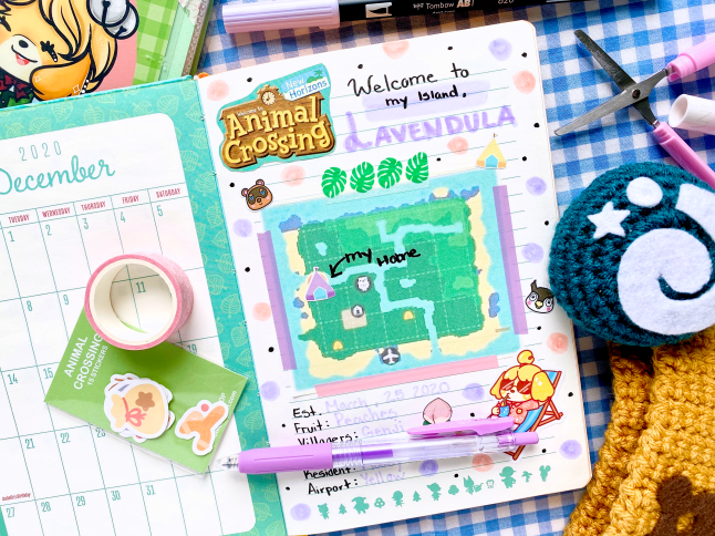 Animal Crossing New Horizons Journal Setup