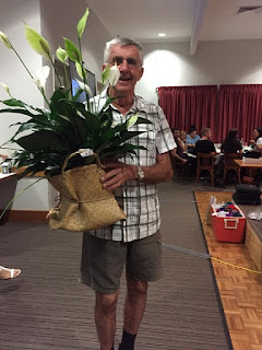 Raffle prize winner at Quota Carindale's Trivia Night