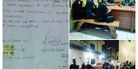 Disaksikan Banser, Gus Nur alias Sugi Nur Raharja Minta Maaf Diatas Materai