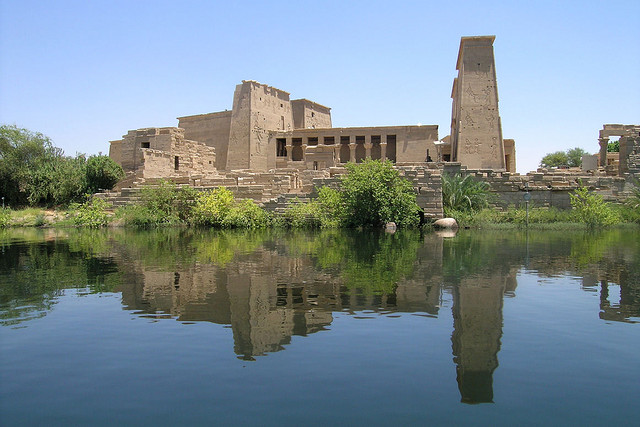 Ancient Egyptian Temple, Island of Philae, Nile River, Egypt