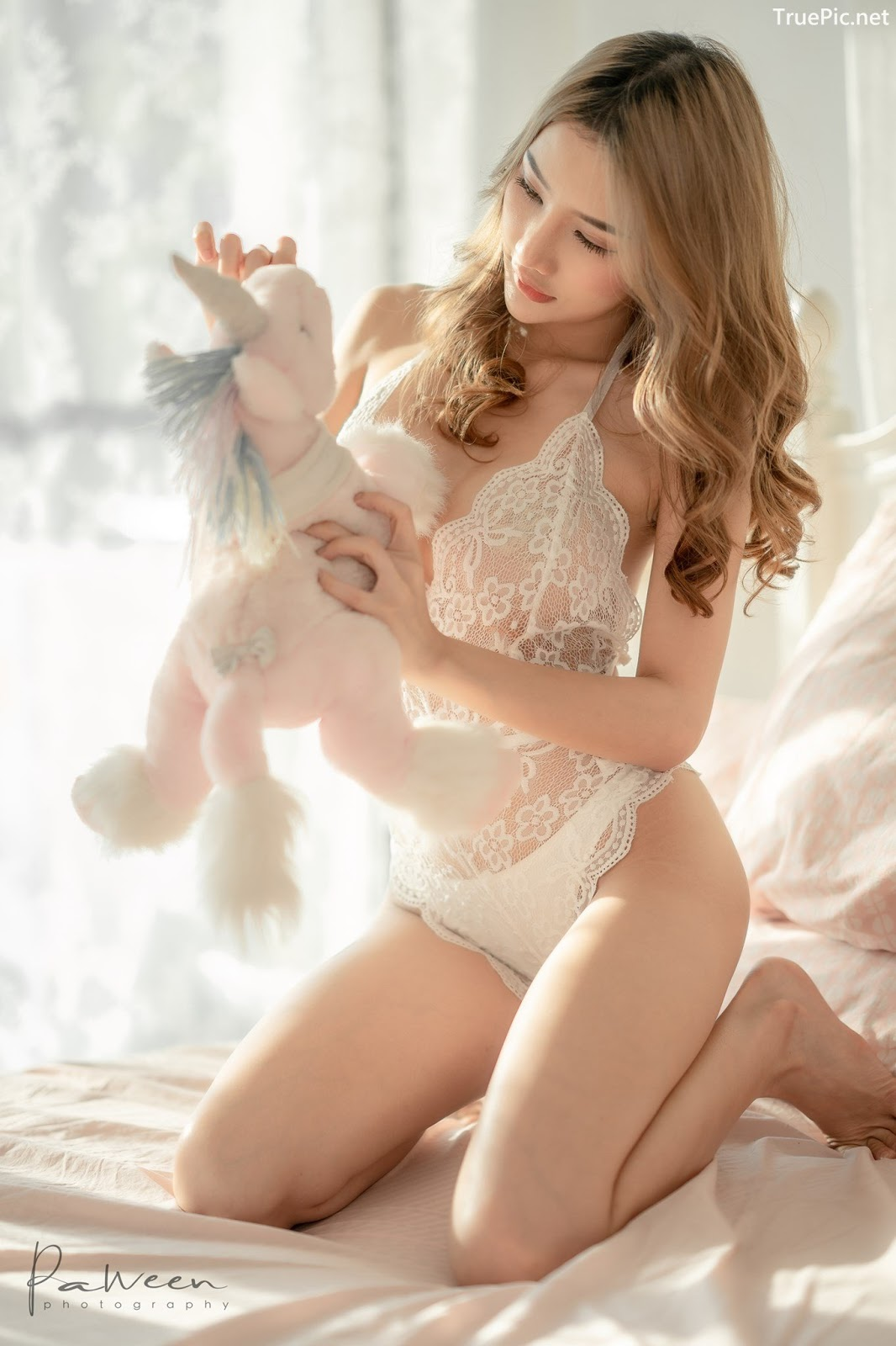 Image Thailand Model - Atittaya Chaiyasing - White Lace Lingerie - TruePic.net - Picture-22