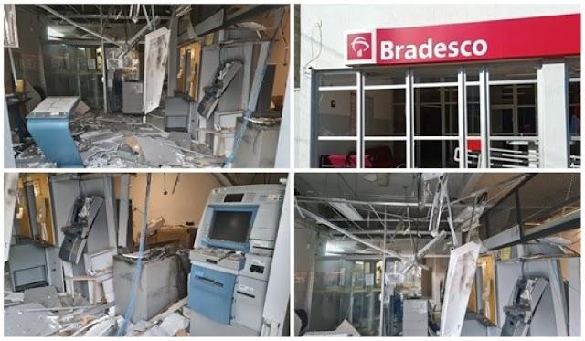 Bandidos explodem e roubam bancos do Brasil e Bradesco em Tanque Novo