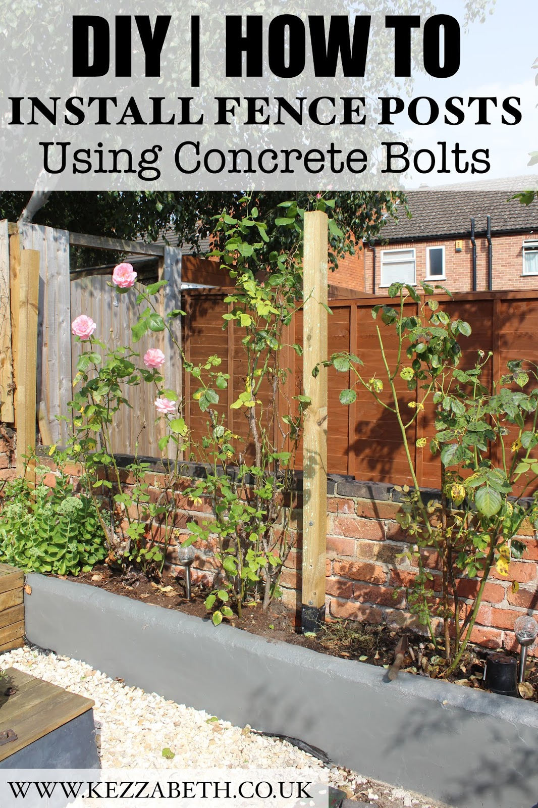 DIY Installing Fence Posts with Concrete Bolts