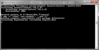 PHP Framework : Install Laravel 5 di LocalHost