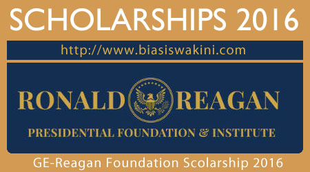 GE-Reagan Foundation Scholarship 2016