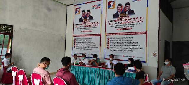 Cegah Pelanggaran Pada Pilkada 2020, Tim Pemenangan Kabupaten Barito Timur dari Ben - Ujang Bentuk Satgas Buser Anti Money Politik